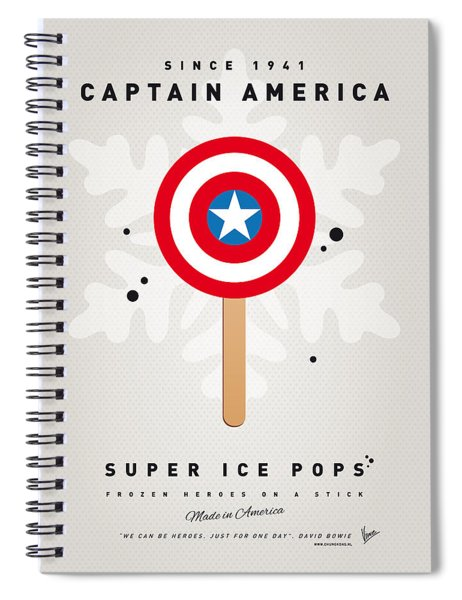 My Superhero Ice Pop - Captain America Spiral Notebook