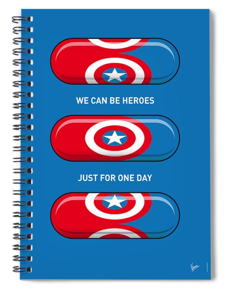 My Superhero Pills - Captain America Spiral Notebook
