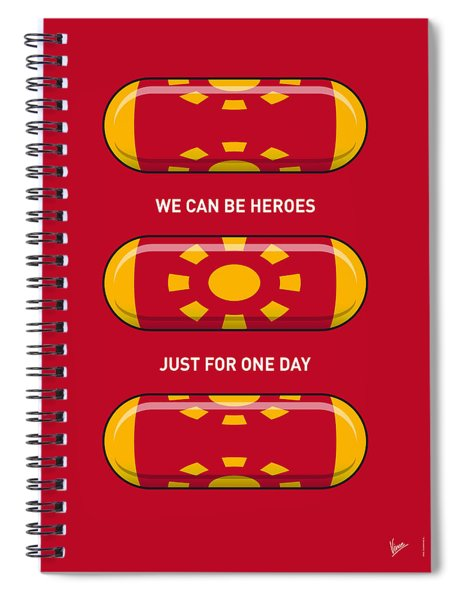 My Superhero Pills - Iron Man Spiral Notebook