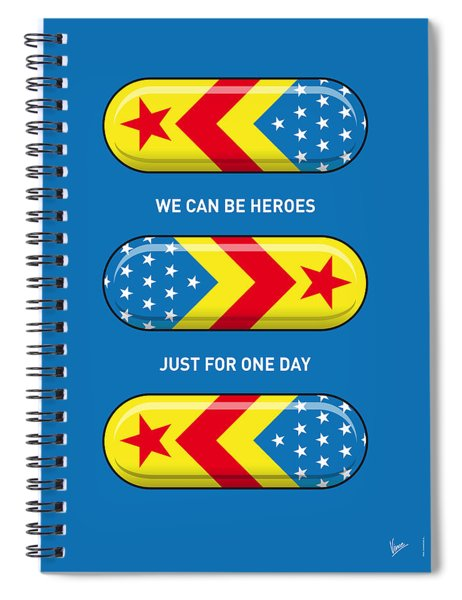 My Superhero Pills - Wonder Woman Spiral Notebook
