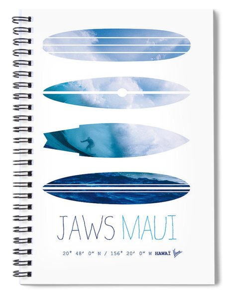 My Surfspots Poster-1-jaws-maui Spiral Notebook by Chungkong Art