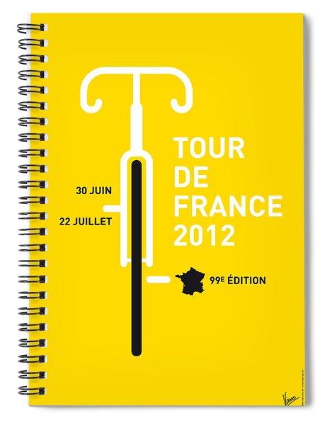 My Tour De France 2012 Minimal Poster Spiral Notebook