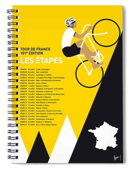 My Tour De France Minimal Poster 2014-etapes Spiral Notebook