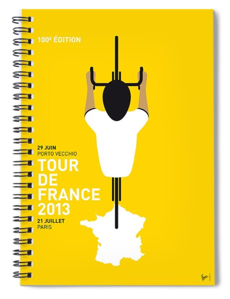 My Tour De France Minimal Poster Spiral Notebook