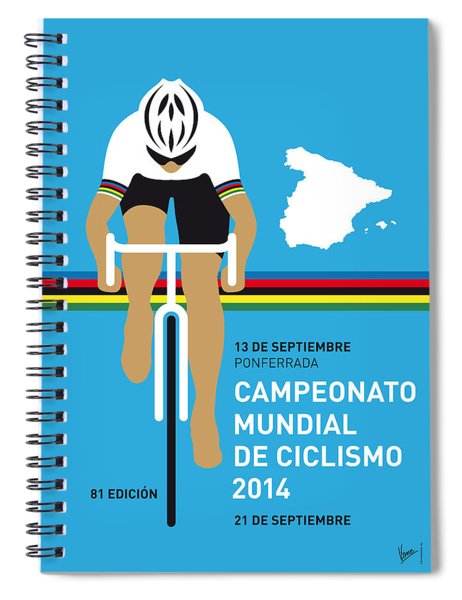 My Uci Road World Championships Minimal Poster 2014 Spiral Notebook