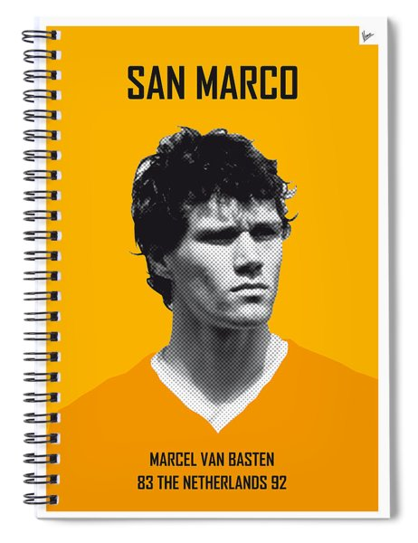 My Van Basten Soccer Legend Poster Spiral Notebook