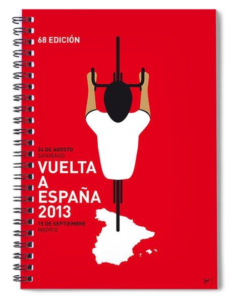 My Vuelta A Espana Minimal Poster - 2013 Spiral Notebook