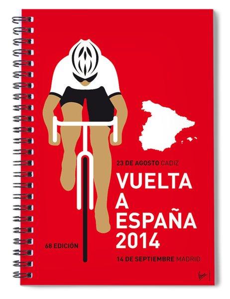 My Vuelta A Espana Minimal Poster 2014 Spiral Notebook