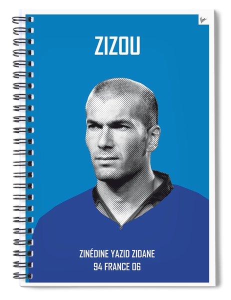 My Zidane Soccer Legend Poster Spiral Notebook