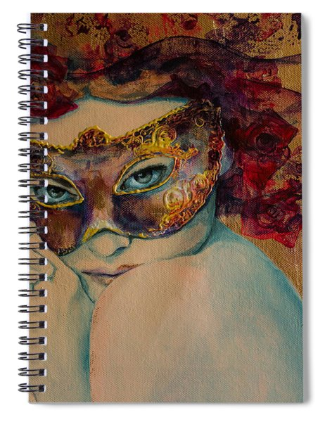 Mystery Roses Spiral Notebook