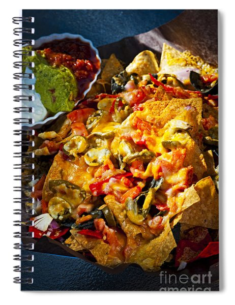 Nacho Basket With Cheese Spiral Notebook