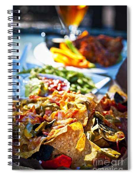 Nacho Plate And Appetizers Spiral Notebook