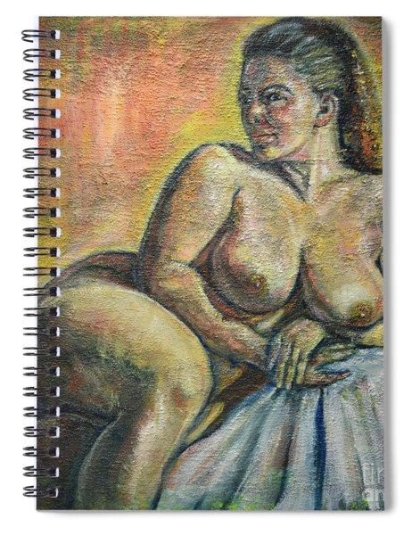 Naked Paris Spiral Notebook