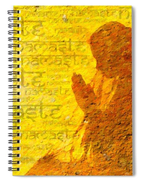 Spiral Notebook featuring the digital art Namaste  by Tim Gainey