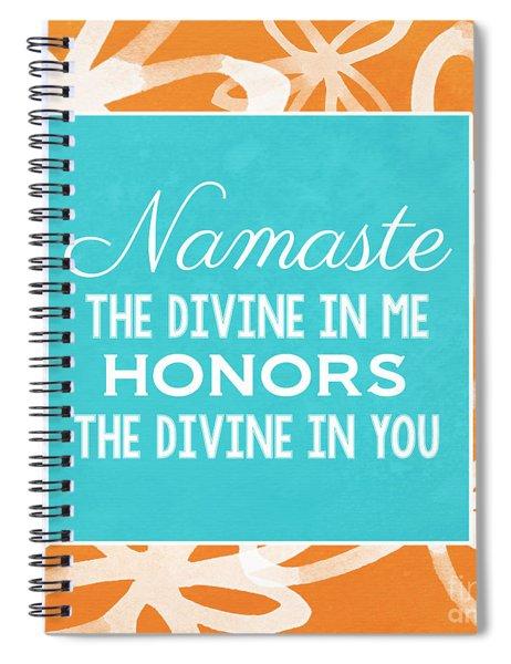 Namaste Watercolor Flowers Spiral Notebook