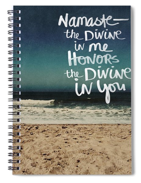 Namaste Waves  Spiral Notebook