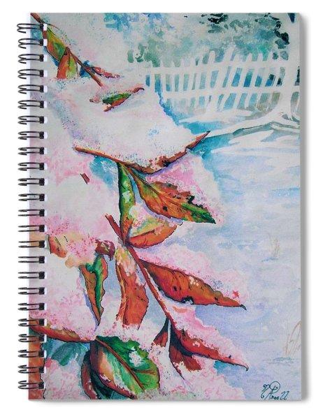 Nandina In Snow Spiral Notebook