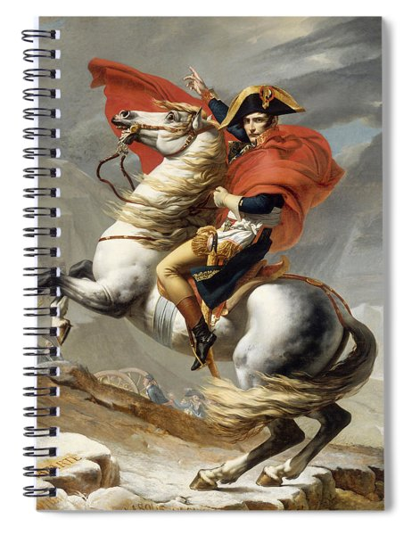 Napoleon Bonaparte On Horseback Spiral Notebook