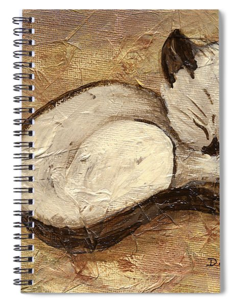 Napping Kitty Spiral Notebook