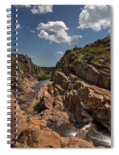 Narrows Canyon In The Wichita Mountains Spiral Notebook