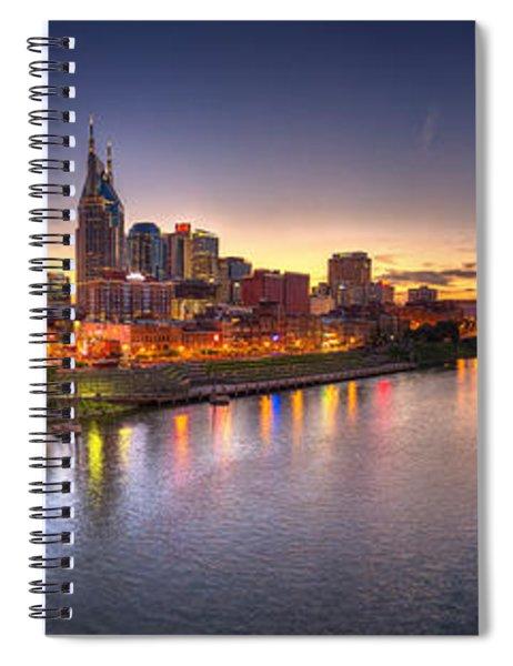 Nashville Skyline Panorama Spiral Notebook