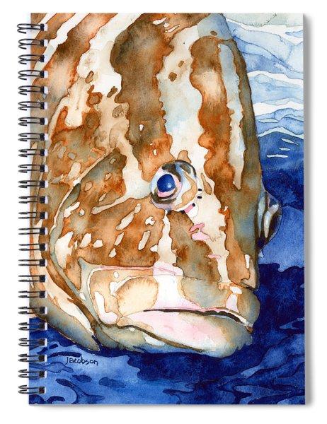 Nassau Grouper Portrait Spiral Notebook