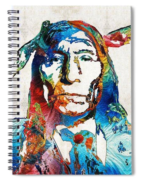 Native American Art By Sharon Cummings Spiral Notebook