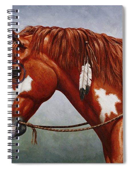Native American War Horse Spiral Notebook