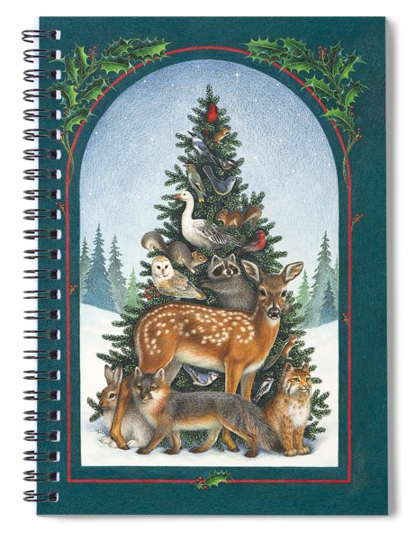 Nature's Christmas Tree Spiral Notebook