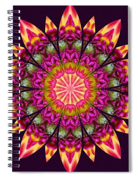 Spiral Notebook featuring the digital art Nature's Mandala 16 by Derek Gedney