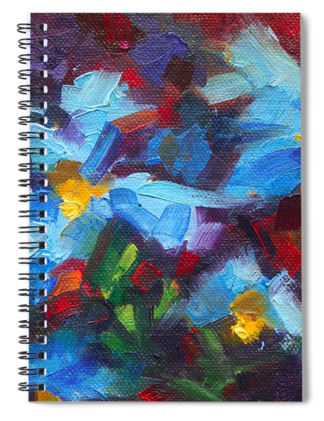 Nature's Palette - Himalayan Blue Poppy Oil Painting Meconopsis Betonicifoliae Spiral Notebook