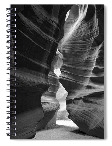 Antelope Canyon Black And White Spiral Notebook