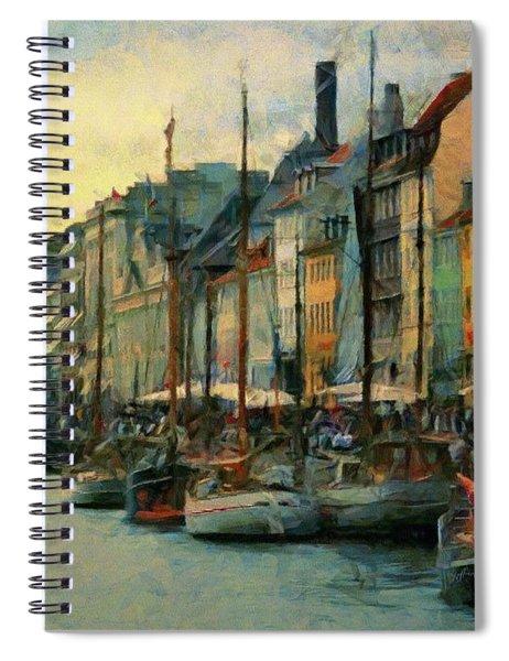 Nayhavn Street Spiral Notebook