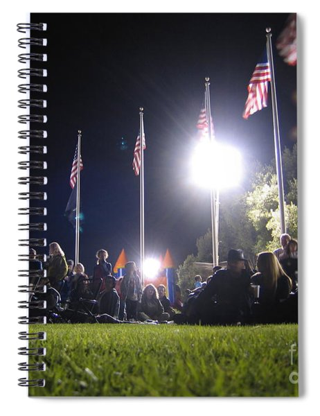Neath The Stars And Stripes Spiral Notebook