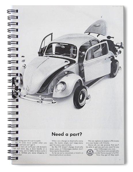 Need A Part? Spiral Notebook