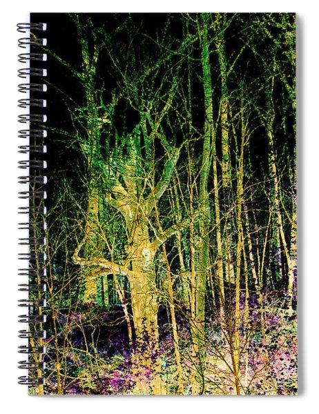 Negative Forest Spiral Notebook