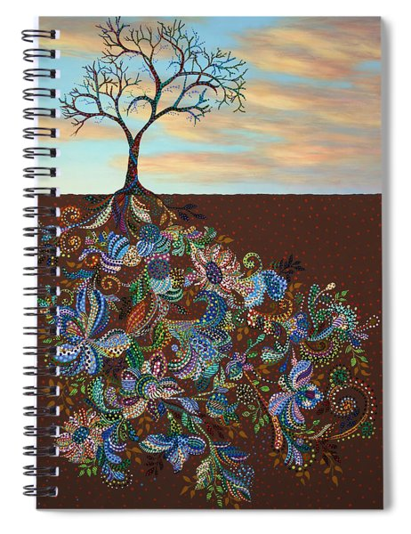 Spiral Notebook featuring the painting Neither Praise Nor Disgrace by James W Johnson