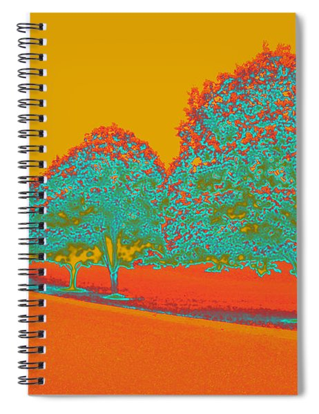 Neon Trees In The Fall Spiral Notebook