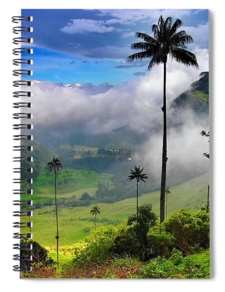 Spiral Notebook featuring the photograph Nephilim by Skip Hunt