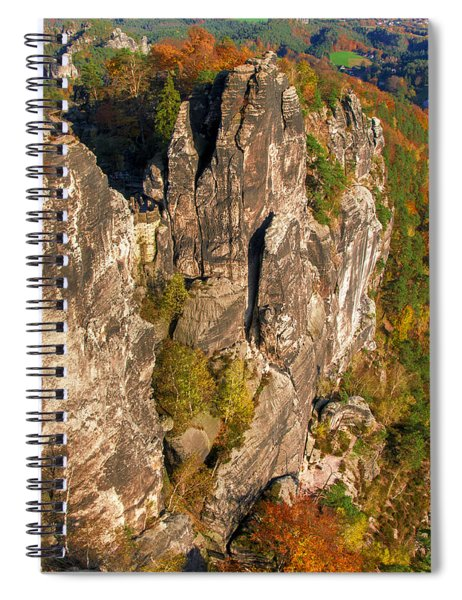 Neurathen Castle In The Saxon Switzerland Spiral Notebook
