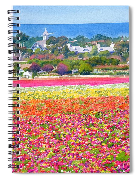 New Carlsbad Flower Fields Spiral Notebook
