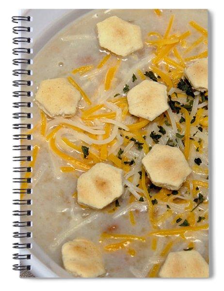 New England Clam Chowder Spiral Notebook