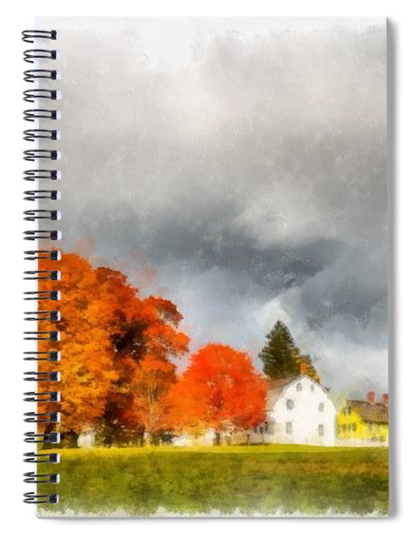New England Village Spiral Notebook
