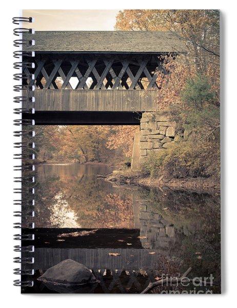New Hampshire Covered Bridge Autumn Spiral Notebook