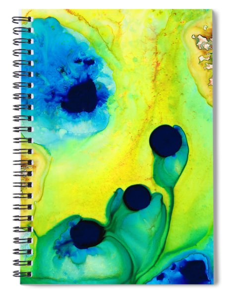 New Life - Green And Blue Art By Sharon Cummings Spiral Notebook