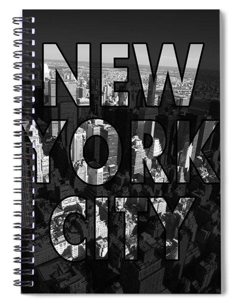 New York City - Black Spiral Notebook