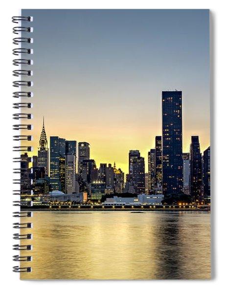 New York City Dusk Colors Spiral Notebook