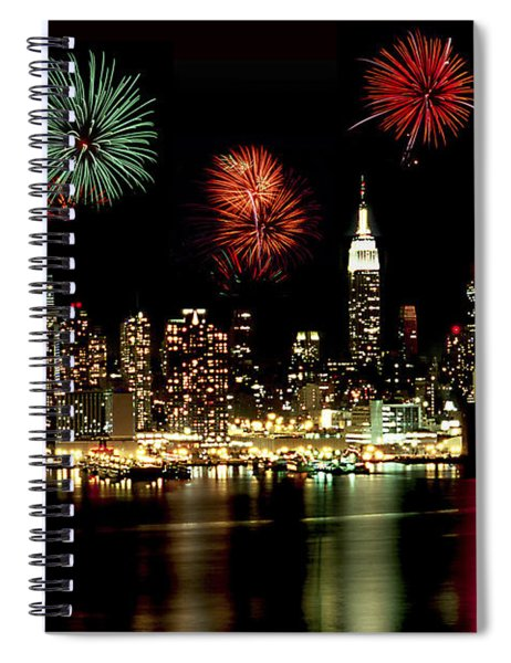 New York City Fourth Of July Spiral Notebook