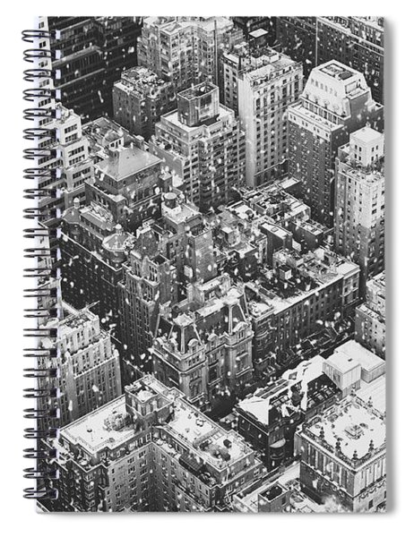 New York City - Skyline In The Snow Spiral Notebook by Vivienne Gucwa