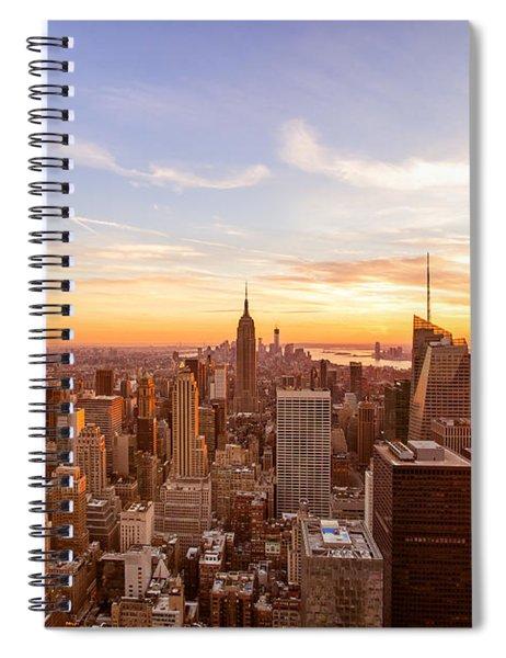 New York City - Sunset Skyline Spiral Notebook